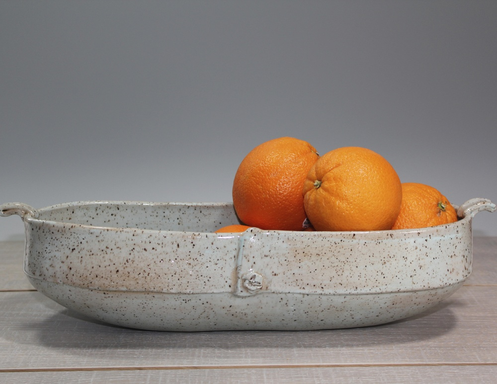 Robin's Egg Blue Fruit Bowl