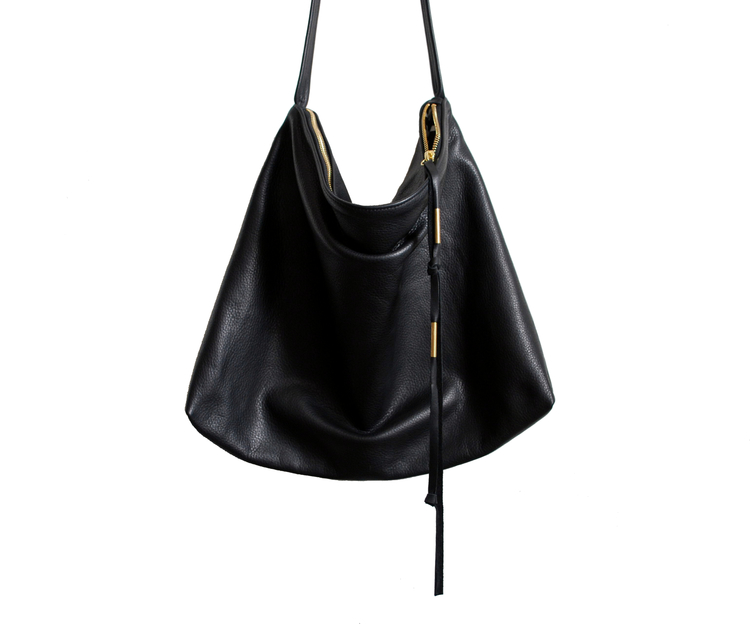 Large leather sling bag — Marketa