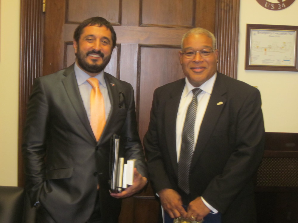 Mike Christopher with Amir Mirabi – Director of Small Business Office for Texas Governor Rick Perry