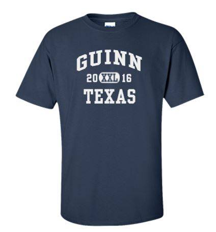 Your payment for the full reunion ($100) includes the price of the Guinn Family Reunion T-Shirt!