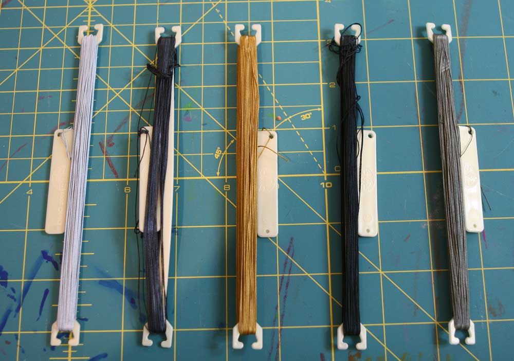 Dyed Thread 1-5 left to right
