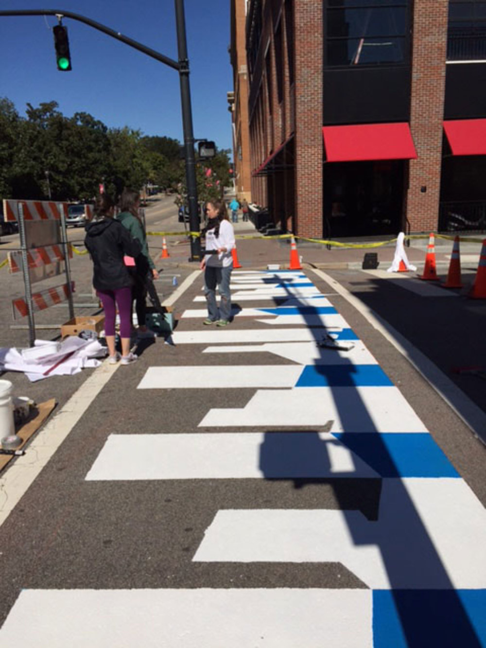 Skyline Crosswalk by Lindsey Barker and Ana Grzeck