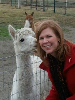 JoDee and her alpaca friend.