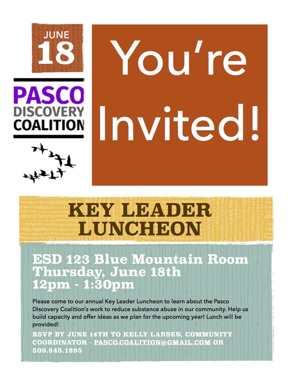 The flyer for the Key Leader Luncheon. Please feel free to  download the PDF version .