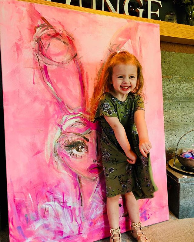 Happy little bunny princess enjoying her custom @theragdoll costume party painting @itonyrose