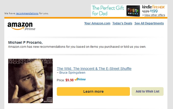 An Amazon ad that shows they no nothing about me.
