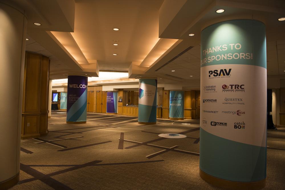 Main lobby branding