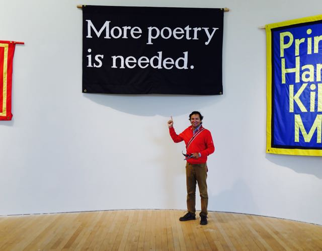 Jeremy Deller's banner at the Glucksman Gallery, University College Cork (formerly Queen's College).  Leica Typ 114, 14 June 2015.