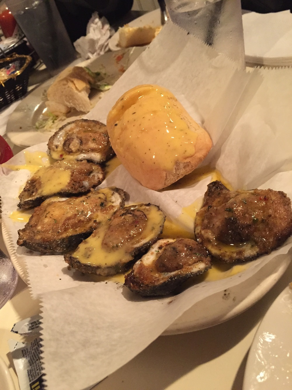 Charboiled Oysters from Felix's
