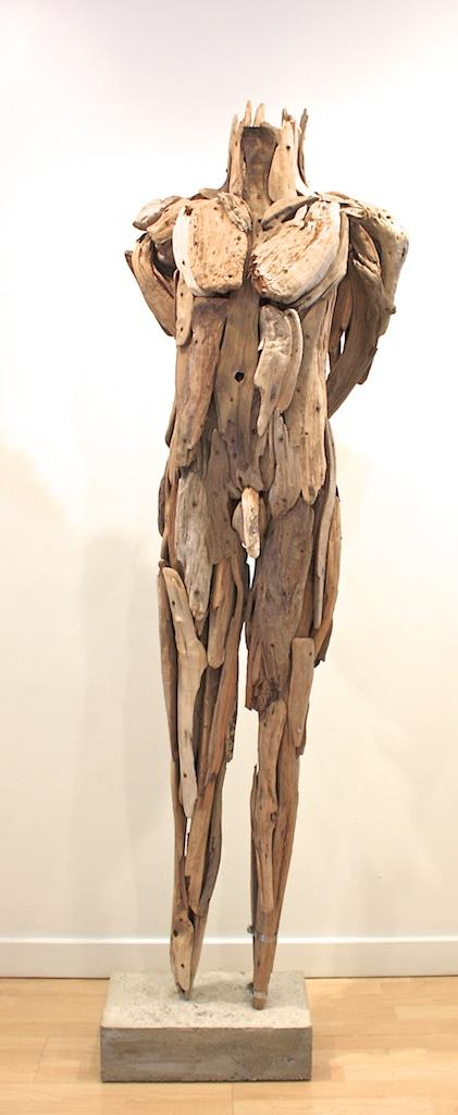 Waiting 75.5 x 24 x 14 Wood, Concrete SOLD
