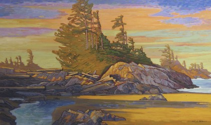 Wickinannish Bay 36 x 60 Oil on Canvas SOLD