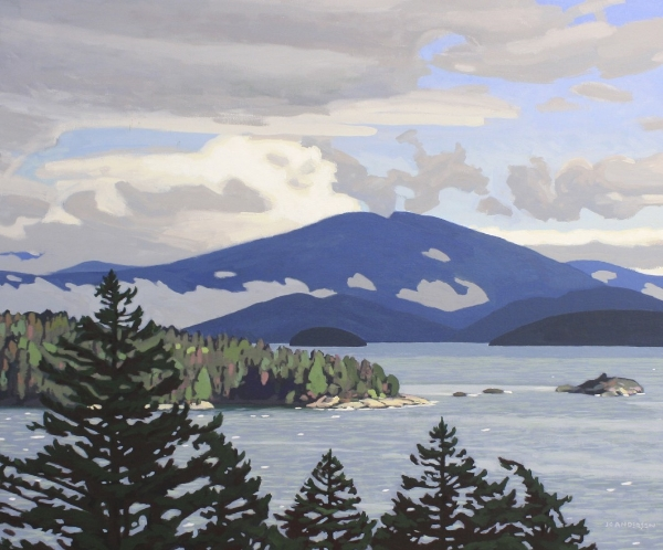 Clearing Storm, Howe Sound 30 x 36 Acrylic on Canvas SOLD
