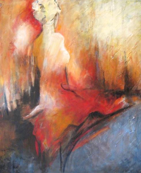 Unbending<br>41 x 34<br>Acrylic on Canvas<br>$1950