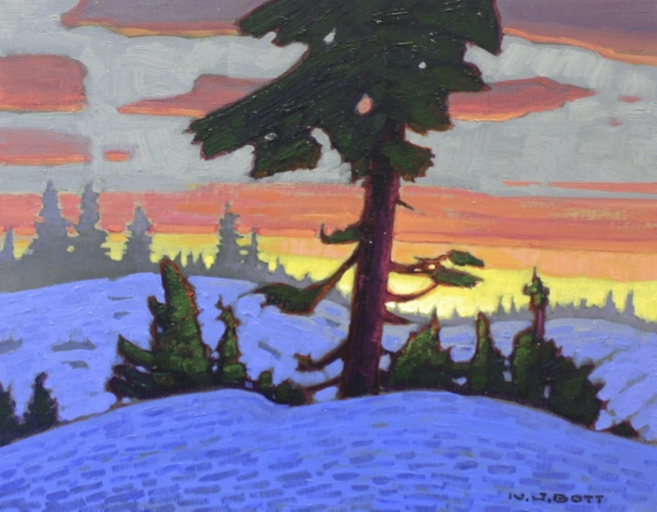 Winter Sunrise 11 x 14 Acrylic on Canvas SOLD