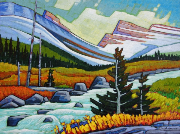 On The Skyline Trail 18 x 24 Acrylic on Canvas  SOLD