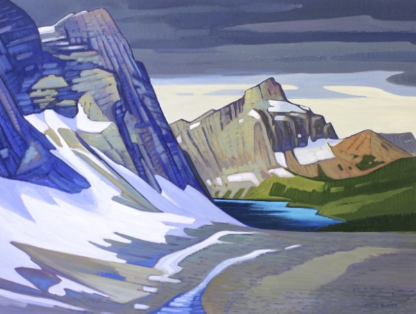 Panoramic Floe Lake 30 x 40 Oil on Canvas SOLD