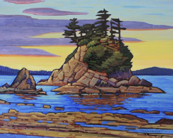 Ragged Brady's Beach 16 x 20 Oil on Canvas SOLD