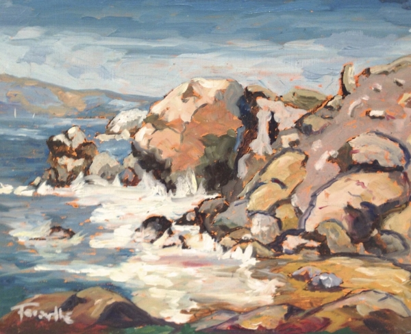 Rock Lake 24 x 48 Oil on Canvas SOLD