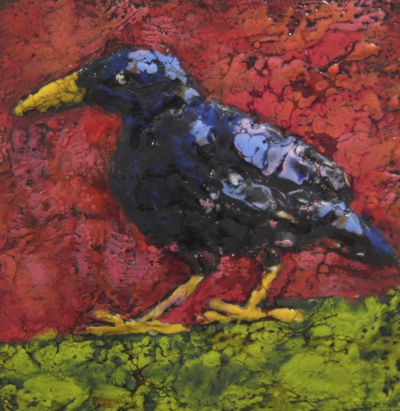 Cheeky 10 x 10 Encaustic SOLD