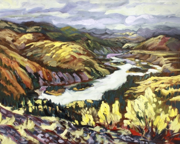 Up River from Dawson Dome 24 x 30 Oil on Canvas SOLD