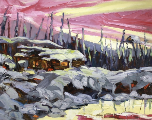 West Hart Glow<Br>24 x 30<Br>Oil on Canvas<Br>$ 2975