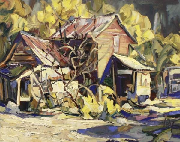 North End Dawson 24 x 30 Oil on Canvas SOLD