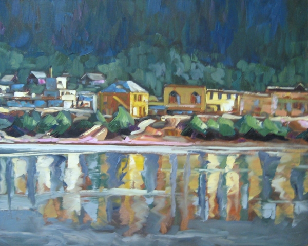 """""""Dawson Front View from Cave Man Bill"""" 24 x 30 Oil on Canvas SOLD"""
