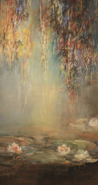 Pond Jeux D'eau 65 x 34 Acrylic on Board SOLD