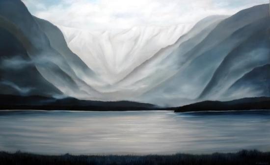 Burke Mountain<Br>36 x 60<Br>Oil on Canvas<Br>$  5300 (framed)