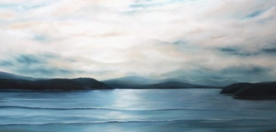 Dusk Falls Softly 36x72 Oil on Canvas SOLD