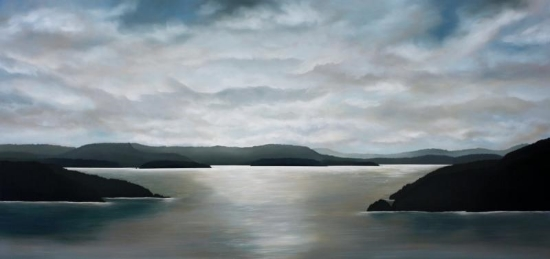 Aegean Island 40x84 Oil on Canvas SOLD