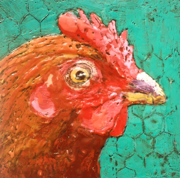 Organic Eggs for Sale 10 x 10 Encaustic and Mixed Media on Canvas SOLD