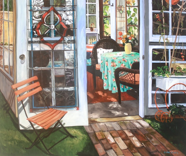 Summer House<br>30 x 36<br>Acrylic on Canvas<br>$ 2600