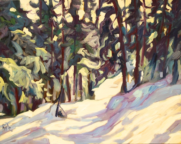 Breaking Trail<Br>24 x 30<Br>Oil on Canvas<Br>$ 2975