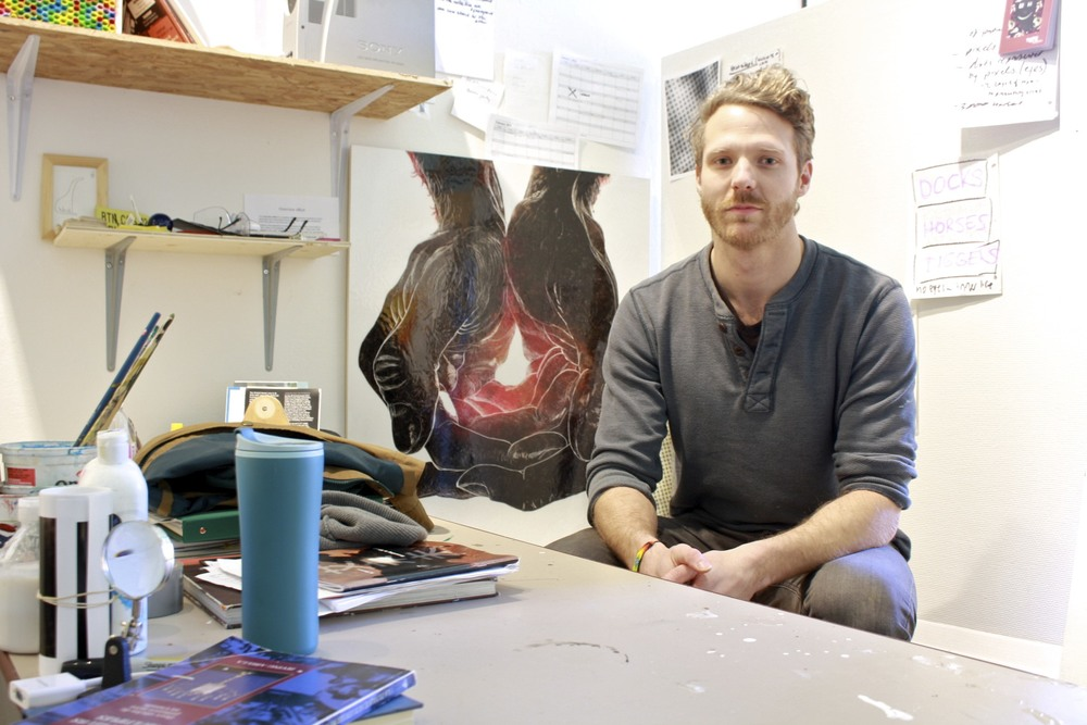 Nic Vandergugten, Fine Arts Building, UVic, Studio Space, Feb 2015