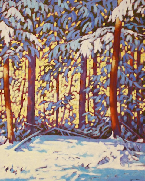 Morning After Heavy Snow<br>30 x 24<br>Oil on Canvas<br>$ 2400