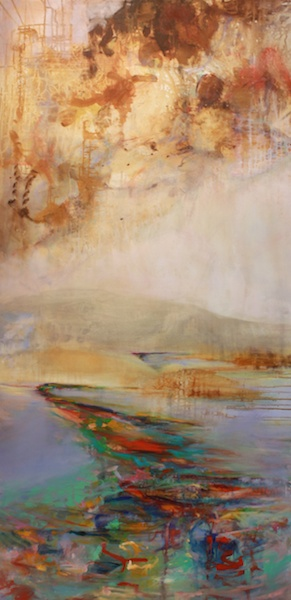 Spill<br>72 x 36<br>Oil on Canvas<br>$ 4000