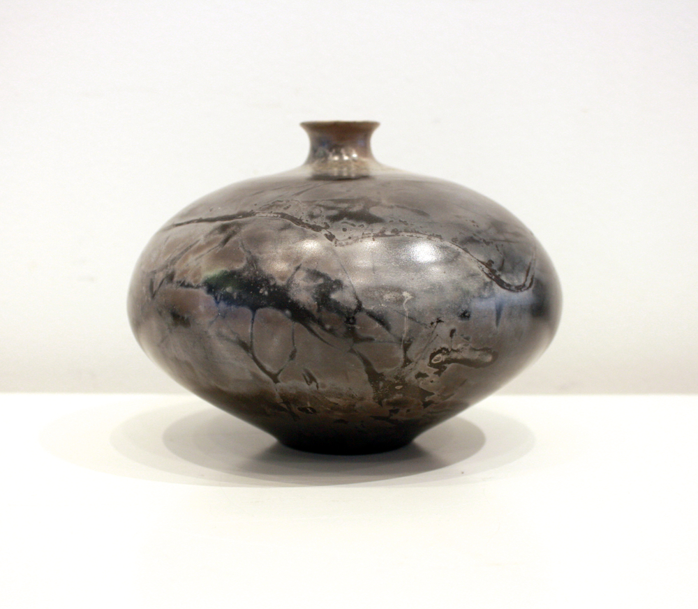 Vessel #16 4.5 x 7 Saggar Fired SOLD