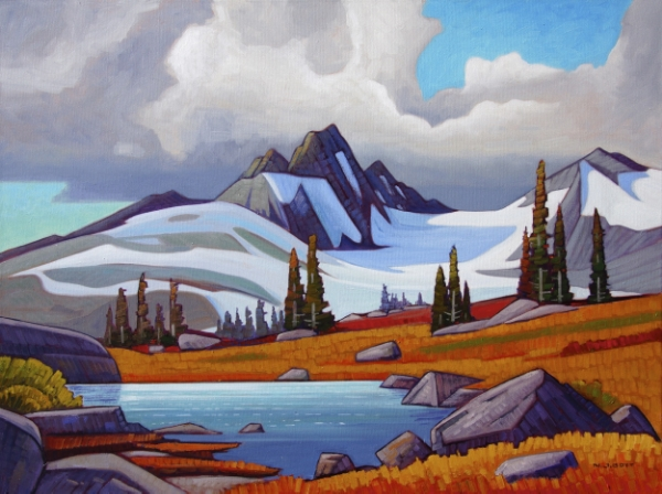 Cloudy Day - Beagle Peak 30 x 40 Oil on Canvas SOLD