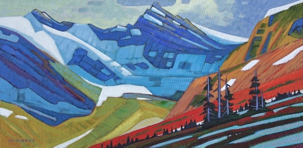 Mount Arthur Meighen 18 x 36 Acrylic on Canvas SOLD