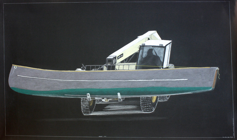 Tim Pitsiulak, 'Massive Move', 43' x 69', Coloured Pencil on Paper -SOLD-