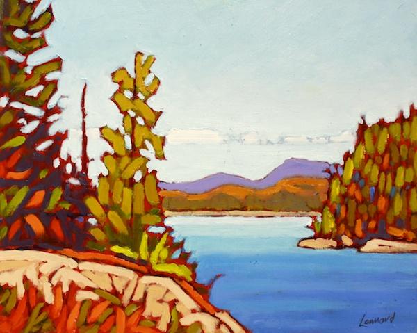 Lake View II 8 x 10 Oil on Board SOLD