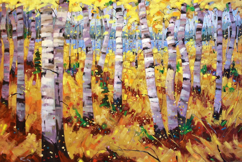Autumn, Approaching 12 Mile Lake 48 x 72 Oil on Canvas SOLD
