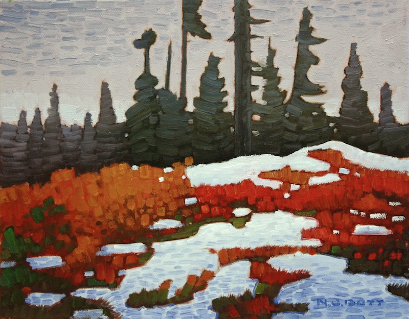 November Snow 11 x 14 Oil on Canvas SOLD