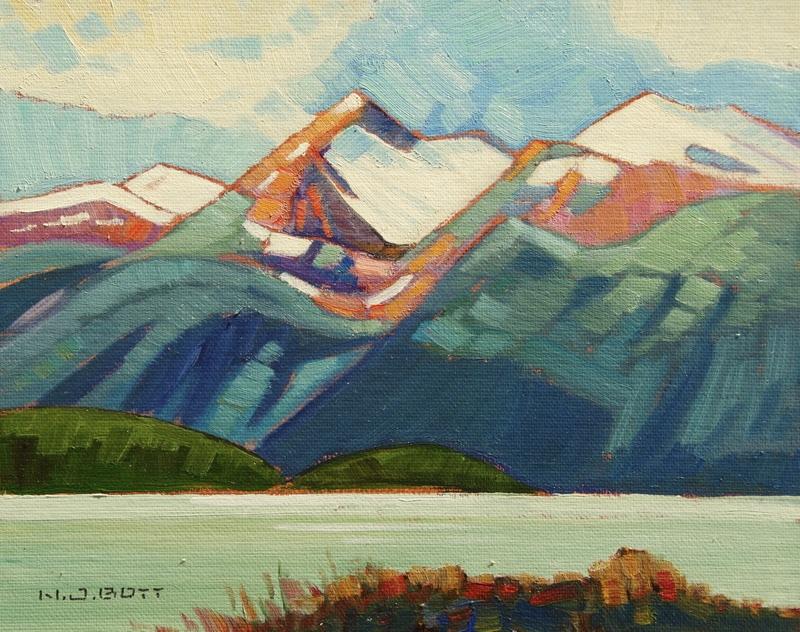 Mountain Presence<Br>8 x 10<Br>Oil on Board<Br>$ 1250 (framed)
