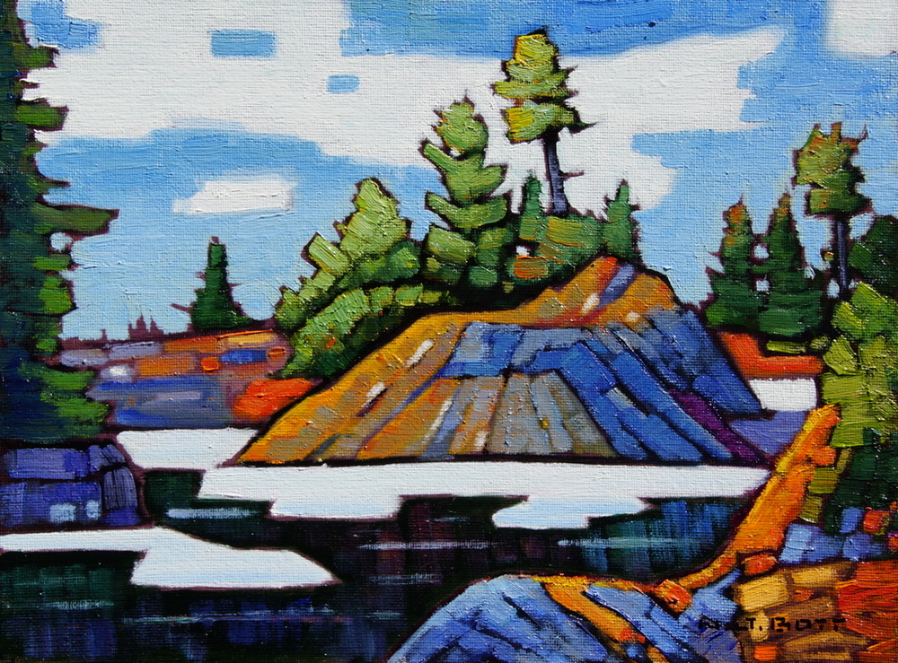 Spring on Seymour Mountain 9 x 12 Oil on Board  SOLD