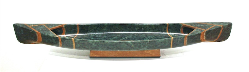 Canoe II  24 x 4 x 4  Soapstone and Pyrophyllite  SOLD