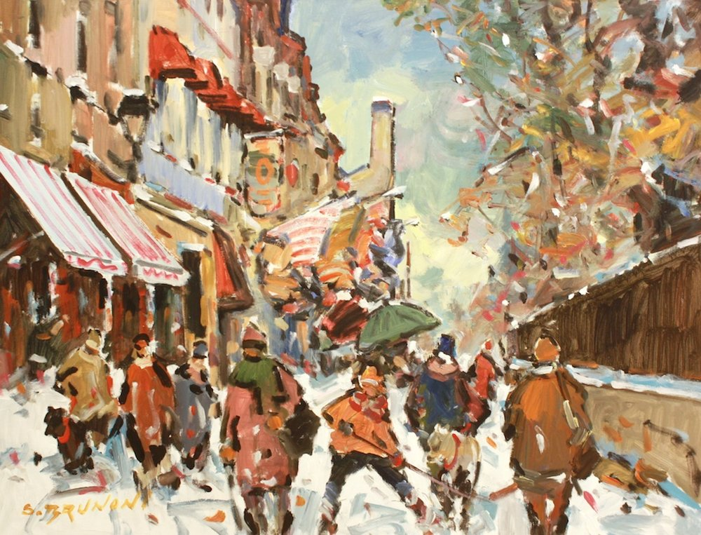 Quebec - St Anne st. 30 x 40 Acrylic on Canvas SOLD
