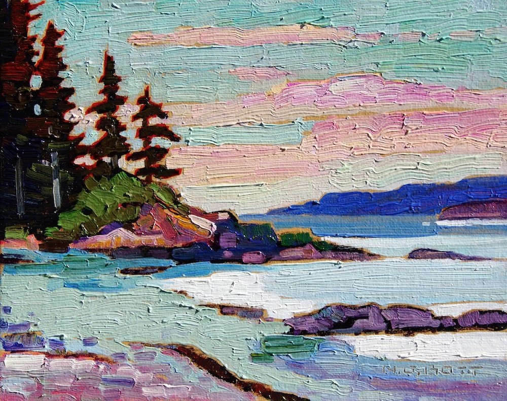Near Tofino  8 x 10  Oil on Board  SOLD