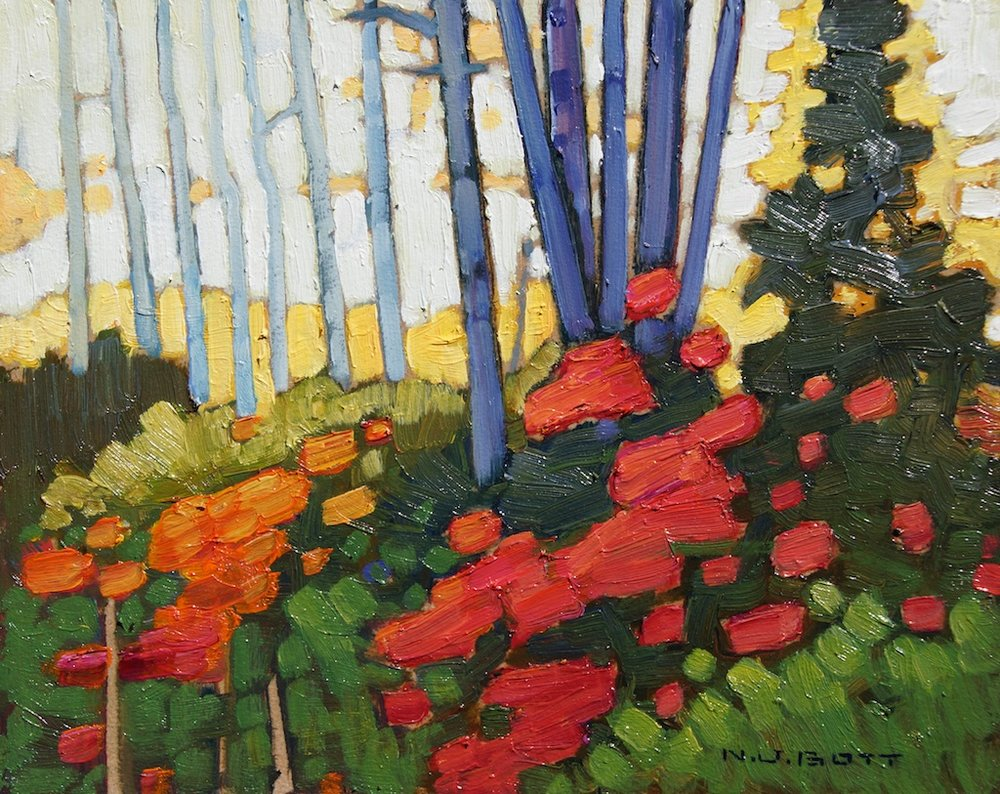Autumn Colours, Smithers, BC 8 x 10 Oil on Board SOLD